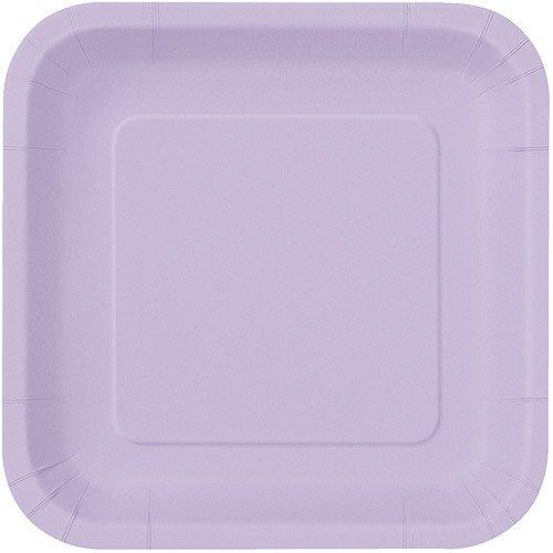 lavender square dinner plates 14pk - Square Dinner Plates