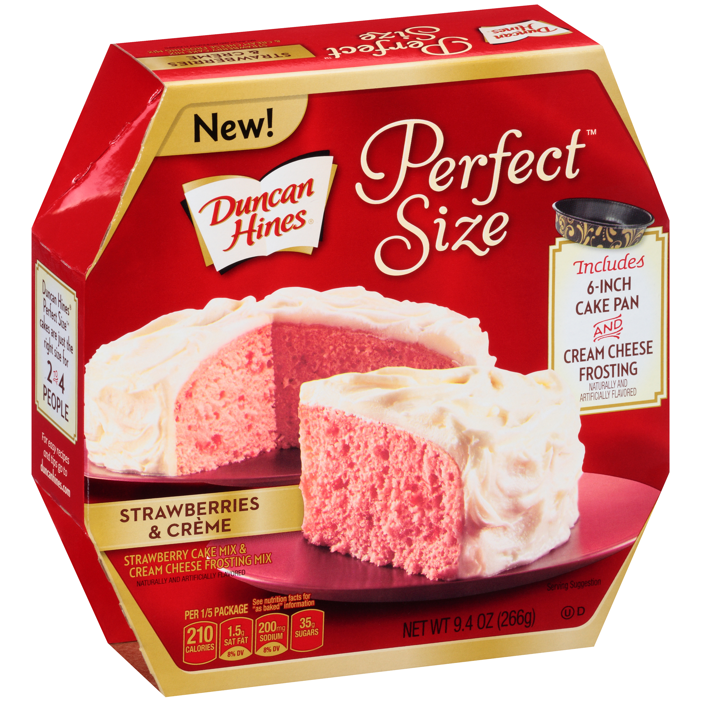Duncan Hines�� Perfect Size��� Strawberries & Creme Cake & Frosting Mix 9.4 oz. Box