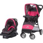 Disney Baby Minnie Mouse Amble Quad Travel System With Onboard 22 Car Seat Walmart Com