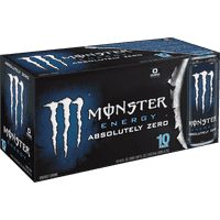 Monster Absolutely Zero Energy Drink, 16 Fl. Oz., 10 Count