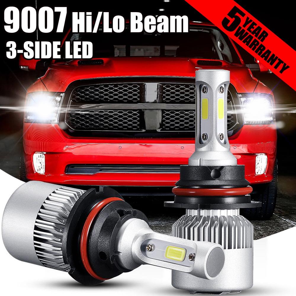 XENTEC 9007 HB5 LED Headlight Bulb Kit Low High Beam 6000K 90W 180000LM White.