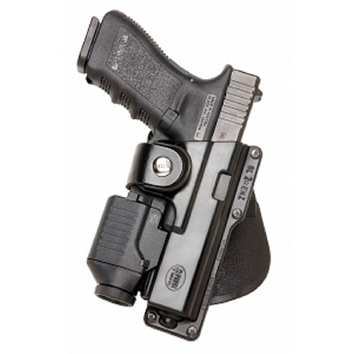Click here to buy Fobus Left Hand Speed Holster for Glock 19, 23, 32, S&W99 Compact, M&P Compact Handgun with Laser or Light by Fobus.