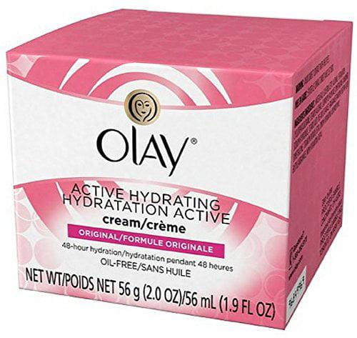 Olay Active Hydrating Cream Original Facial Moisturizer, 2 oz.