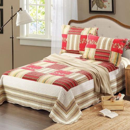 Tache Home Fashion 3 Piece Reversible Bedspread Set
