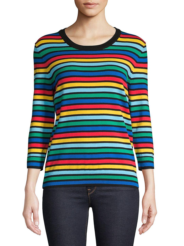Petite Rainbow Knit Sweater