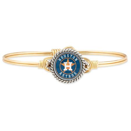 Houston Astros Luca + Danni Women's Petite Bangle Bracelet - Gold - No -