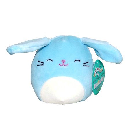 Kellytoy Squishmallows Easter Themed Pillow Plush Toy (Blue Bunny, 5 inches) - Plush Easter Bunny