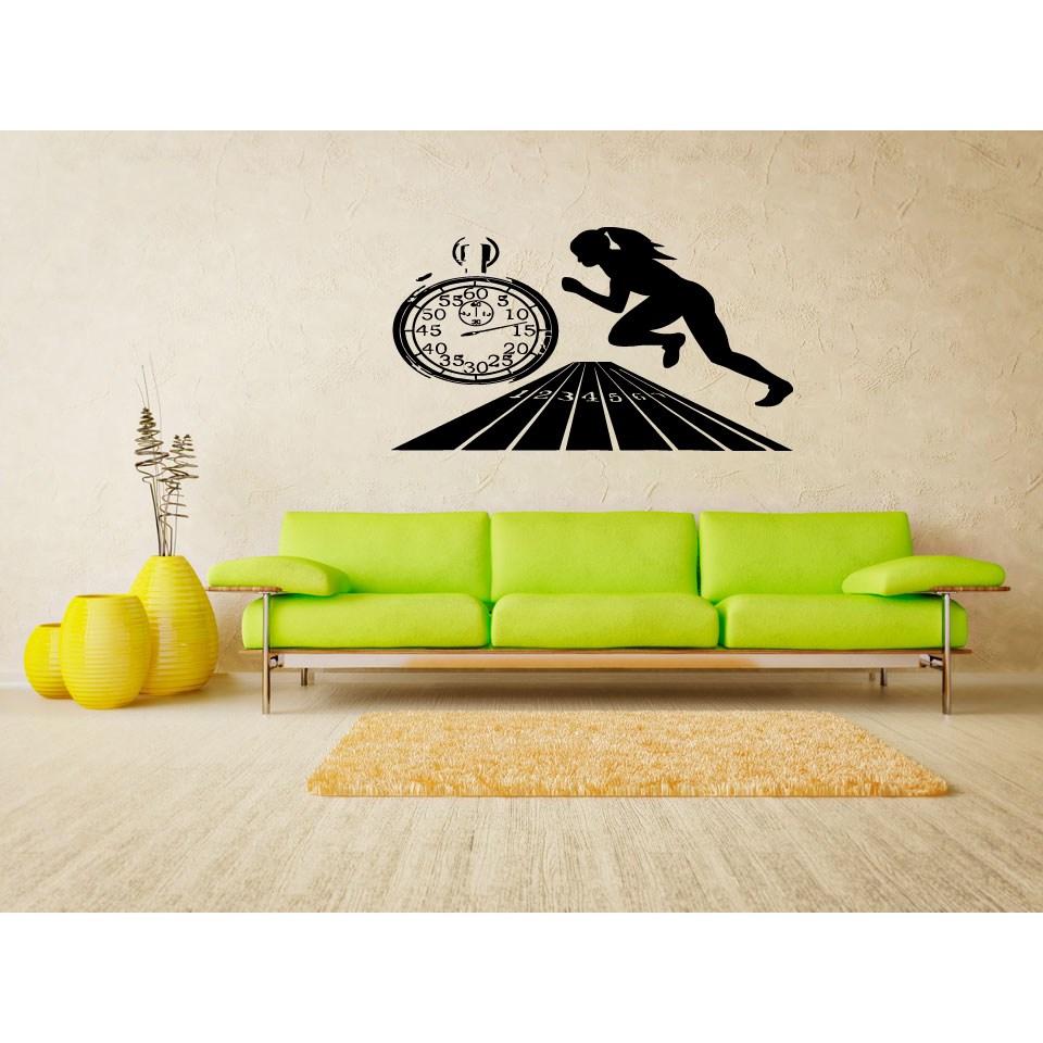 stickalz llc race at the time wall art sticker decal. Black Bedroom Furniture Sets. Home Design Ideas