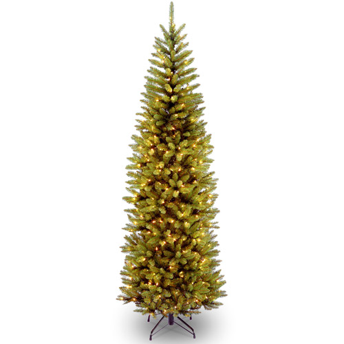 National Tree Pre-Lit 7.5' Kingswood Fir Pencil, Clear Lights