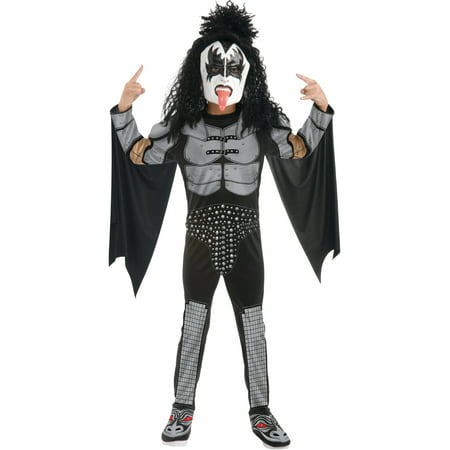 Childs Kiss The Demon Gene Simmons Rock Star Costume Boys Large 12-14](Diy Demon Costume)