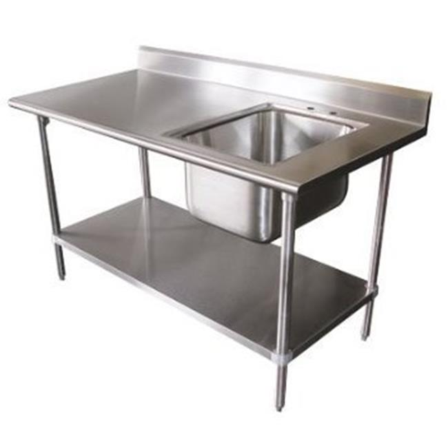 Diversified Woodcrafts 250492 Stainless Steel Prep Table, Sink Side Right