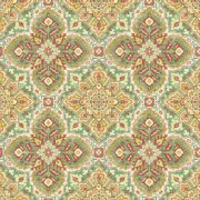 """Waverly Inspirations Cotton Duck 45"""" DISKS CORAL Fabric, per Yard"""