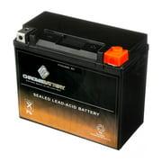 Chrome Battery YTX20HL-BS (20HL-BS 12 Volt,18 Ah, 310 CCA) Pwc Battery for Kawasaki (jet Ski) 260(l)x, 300(l)x 1500cc Year (07-19)