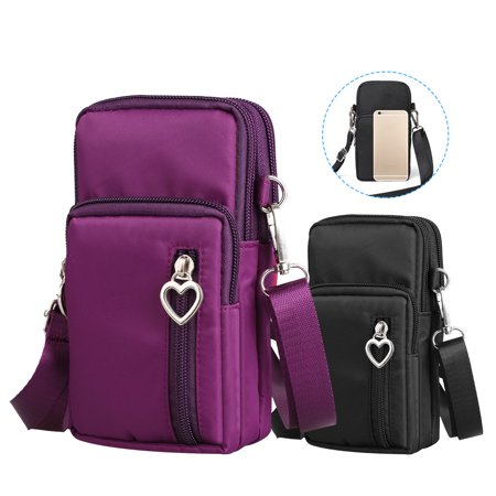 - EEEKit Travel Shoulder Bag Armband Bag Cell phone Crossbody Purse Case Pouch Small Messenger Bag for iPhone XS XR XS Max 8 Plus Samsung S10 S9 S7 Edge LG G7 G6 V40 V30 and More