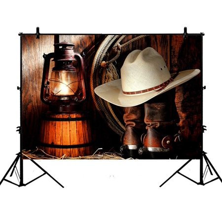 GCKG 7x5ft American West Rodeo Cowboy Polyester Photography Backdrop Studio Photo Props Background (Rodeo Props)