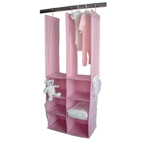Seed Sprout   Double Closet Organizer, In Pink