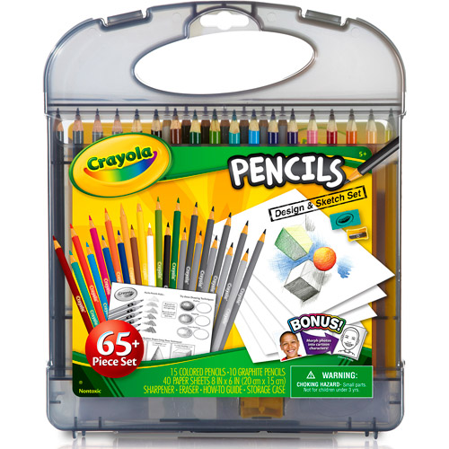 Crayola Colored Pencil Design and Sketch Art Kit, 65 Pieces