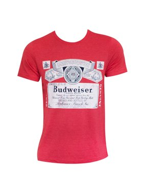 1ca1fbb847f68f Product Image Budweiser Heather Red Beer Logo Tee Shirt