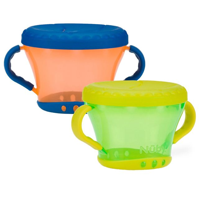 Nuby Snack Keeper - 2 Pack (Orange/Green)