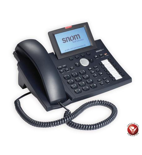 Snom 370 Ip Phone - Cable - Black - 1 X Total Line - Voip - Caller Id - Speakerphone - 2 X Network [rj-45] - Monochrome (370-bk)