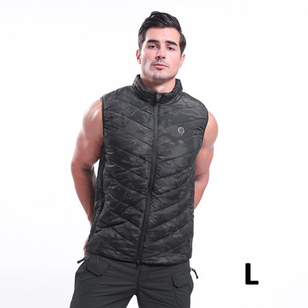 (S-2XL) Winter Electric Battery Heated Vest 3-gear Adjustment Tempture Warm Up Zipper Sleeveless Jacket Wind Resistant Vests,Washable for Mens Women thumbnail