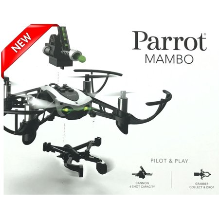 NEW Parrot Mambo Mini Drone Quadcopter with Cannon and Grabber