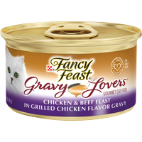 (24 Pack) Fancy Feast Gravy Lovers Wet Cat Food, 3 oz cans