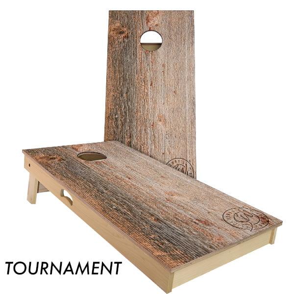 Moss Wood Cornhole Board Set by