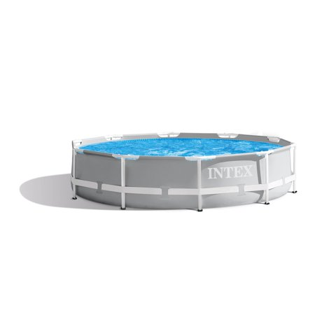 Intex 10 Foot x 30 Inch Prism Frame Steel Above Ground Outdoor Swimming - House Swimming Pool