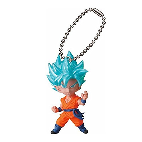 Super Dragon Ball Ultimate Deformed Mascot Figure Swing Keychain Super Saiyan Goku