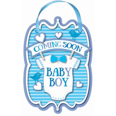 Baby Boy Coming Soon Sign (Halloween Coming Soon Quotes)