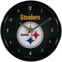 Pittsburgh Steelers Black Rim Basic Wall Clock - No Size