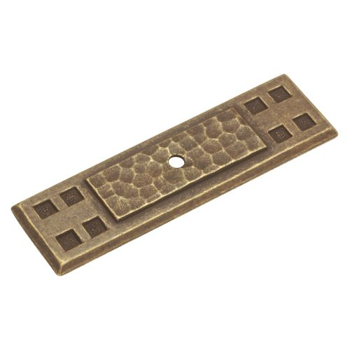 """Hickory Hardware P7529 Country / Rustic 3-1/2"""" x 1"""" Backplate from the Arts and Crafts Collection"""