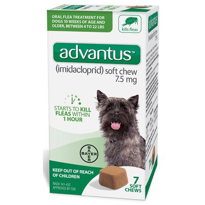 Advantus Soft Chews for Dogs 4-22 lb - 7 count Advantus for Dogs 4-22 lb