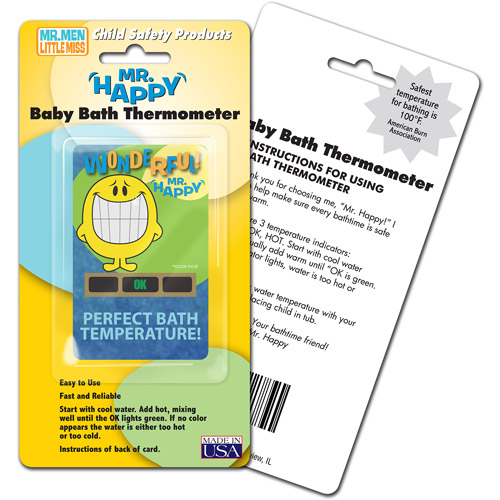 Mr Happy Bath Thermometer 4pk