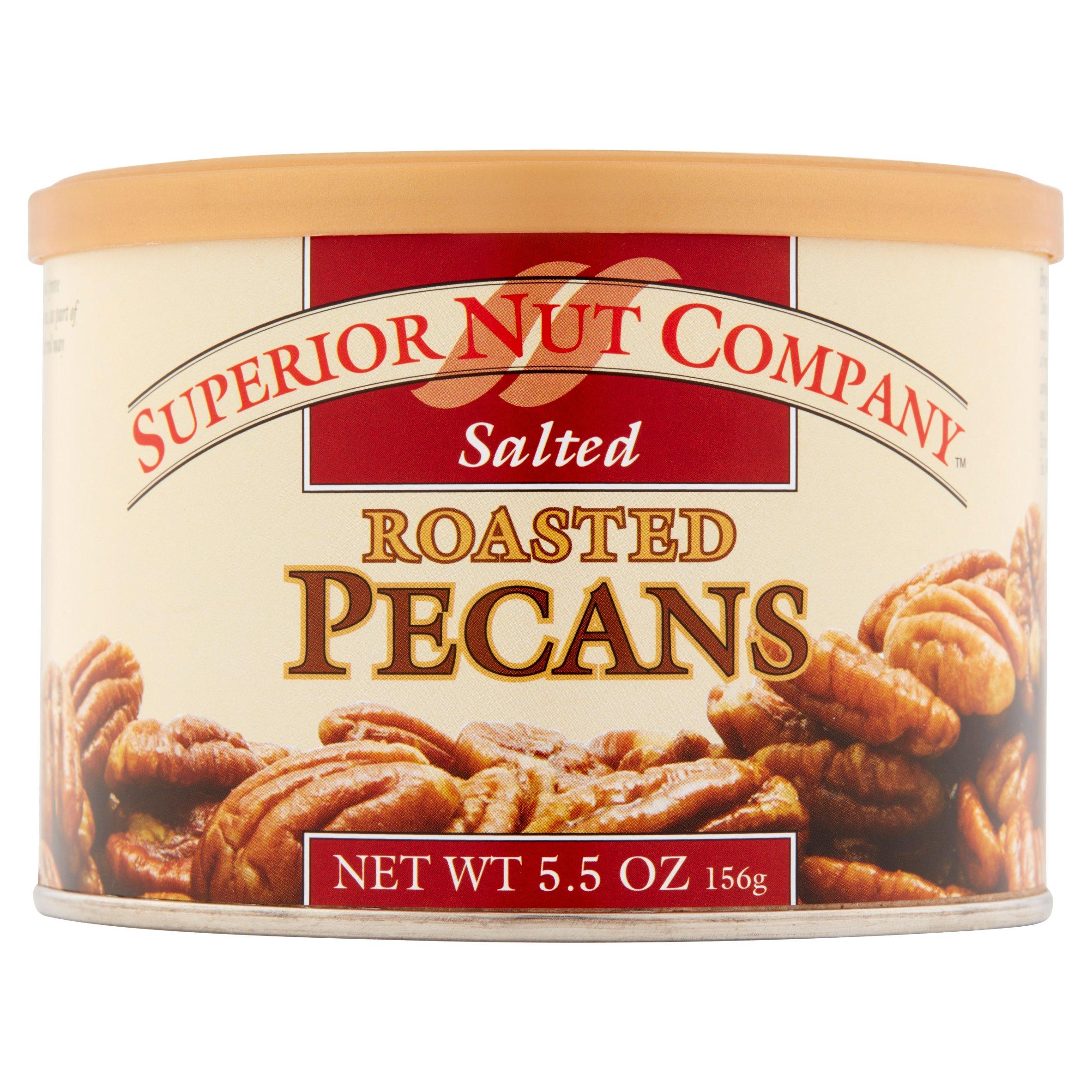 (6 Pack) Superior Nut Roasted Salted Pecans, 5.5 oz
