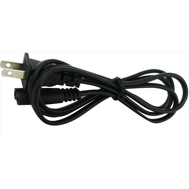 Super Power Supply 010-SPS-10185 Non Polarized 2 Pin Prong 6 ft.  Universal AC Cord Cable