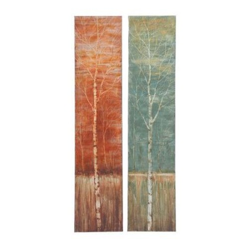 Woodland Imports Contemporary Styled Original Painting on Canvas (Set of 2) by Woodland Imports