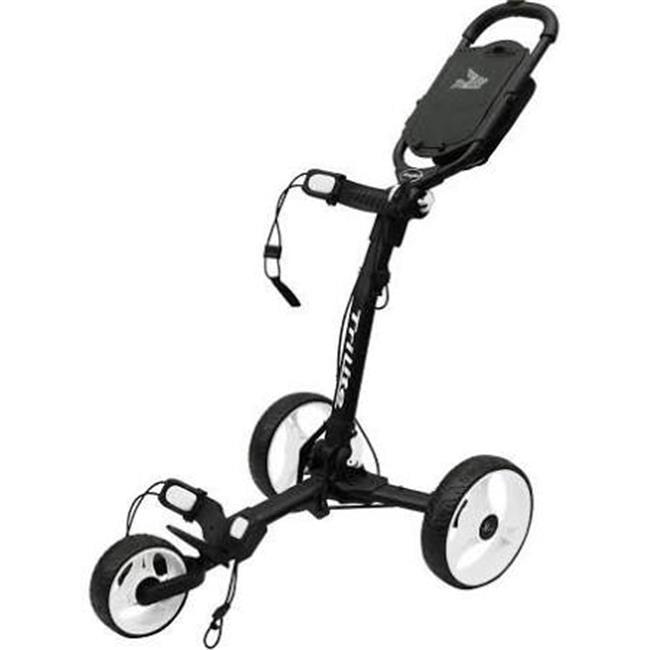 Axglo TL-BK-WH Trilite Golf Push Cart, Black & White