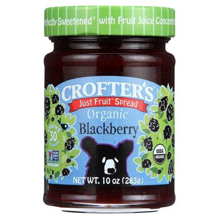 Crofters Just Fruit Spread   Blackberry 10 Oz Jars   Single Pack