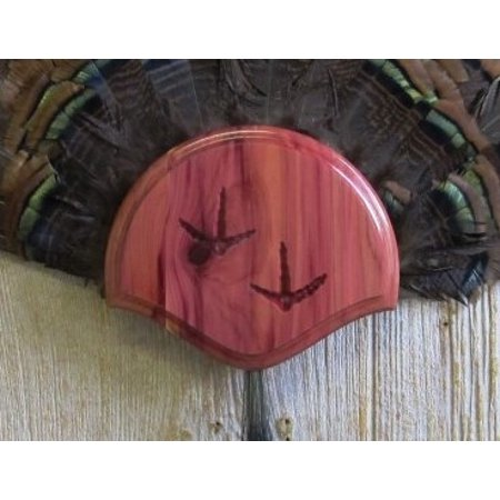 Fan Mount Kit - The Taxidermists' Woodshop Cedar Turkey Fan Mounting Kit 01 with Carved Tracks