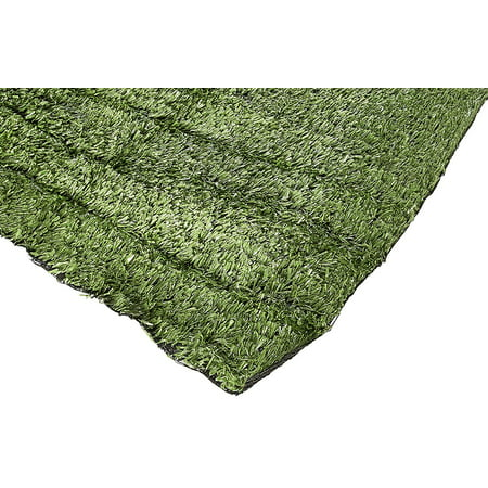 Home Cal AG1AG4028 Artificial Grass Turf Series Landscape, Army Green Outdoor Decorative Synthetic Turf Pet Dog Area with Neat Edge, 28