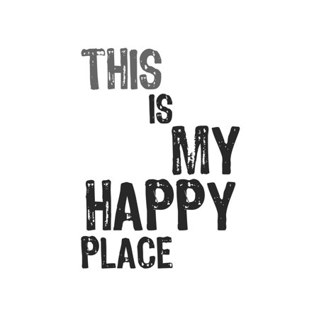 This Is My Happy Place Print Cute Quote Home Office Wall Inspirational  Motivational Sign - Aluminum Metal