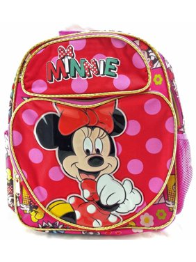 088e9ad8704 Product Image Minnie Mouse Girls 12 Canvas School Backpack-Red. Disney