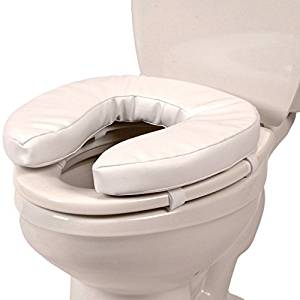 """MDS Deluxe Padded Toilet Seat Riser 2"""" Rise Height"""
