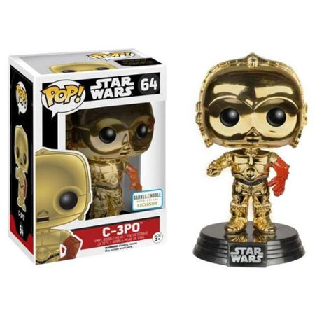 Funko Star Wars Episode 7 The Force Awakens C-3PO Pop Vinyl Chrome Exclusive - Episode 7 Star Wars