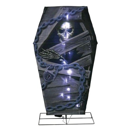 Citi-Talent 9424060 48 x 4 x 26 in. LED B & O Coffin Lighted Halloween Decoration  - Halloween Opening Coffin
