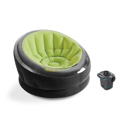 Intex Empire Lime Green Inflatable Blow Up Lounge Dorm Camping Chair & Air Pump](Blow Up Tub)
