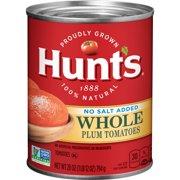 Hunts Whole Peeled Plum Tomatoes No Salt Added 28 oz