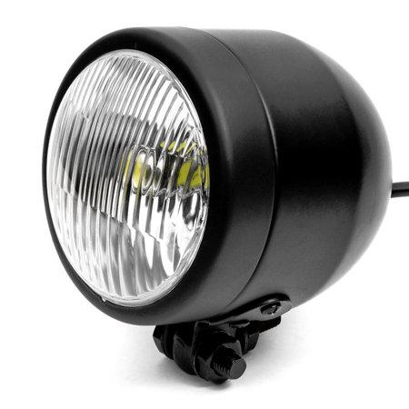 "Krator 4.25"" Mini Headlight w/ High and Low Beam + Fog Lights LED Bulb Black Housing for Harley Davidson Dyna Glide Low Rider - image 7 of 8"